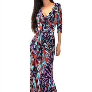 Dresses & Skirts - New! Animal Print Long Ankle Length Maxi Dress